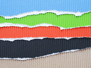 different corrugated cardboard paper