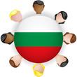 Bulgaria Flag Button Teamwork People Group