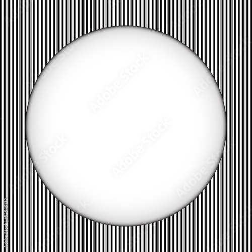 Circle Border Black and White Stripes