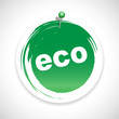 eco button bio icon green