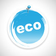 eco button bio icon