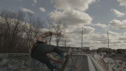 Skateboarder Extreme Back Flip