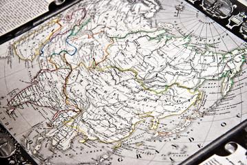 Carte ancienne de l'asie