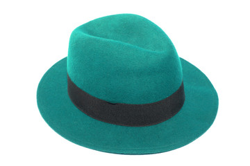isolated image of green top hat