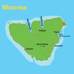 Carte Moorea