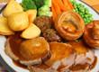 canvas print picture - Roast Pork Sunday Dinner