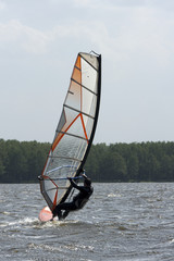 Windsurfen am See