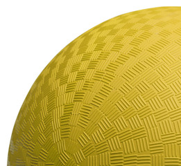Yellow Dodge Ball Close Up