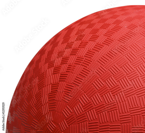 Red Dodoge Ball Close Up
