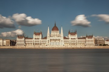 Hungarian Parliament with Clouds