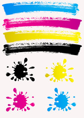 blots, color spots. CMYK