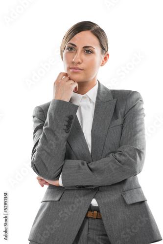 Business woman thinking