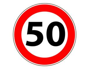 50 Verkehrszeichen