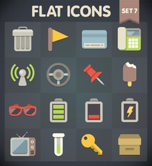 Universal Flat Icons for Web and Mobile Applications Set 7