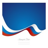 Abstract Russian flag ribbon vector