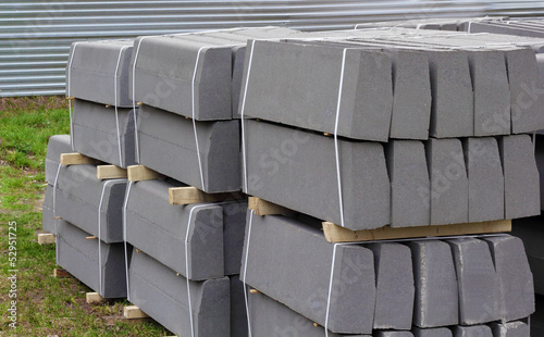 Stack of packed border stones