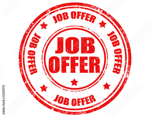 Job offer-stamp