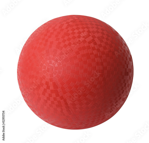 Red Dodge Ball - 52951754