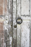 Wooden door with handle