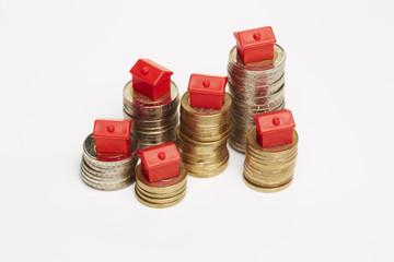 Geldmünzen, Monopoly-Hotels