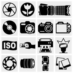 Photo vector icons set.