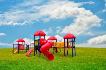 Colorful children s playground in garden