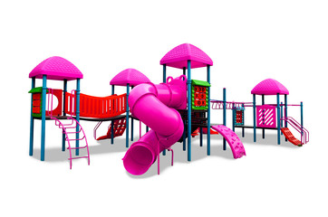 Children s playground isolated