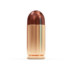 Gun Bullet isolated on white background
