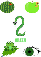 live subjects of green color