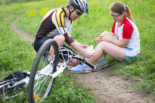 biking accident