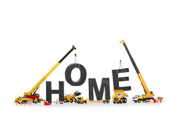 Home under construction: Machines creating home-word.