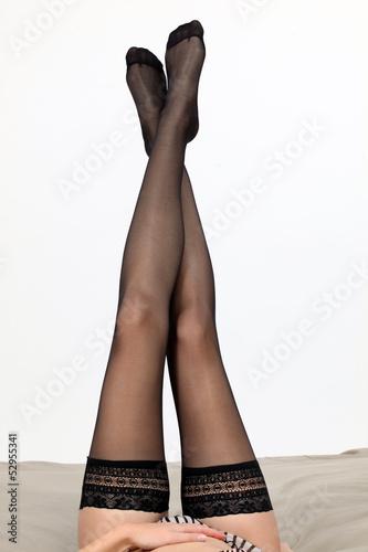 woman wearing beautiful stockings