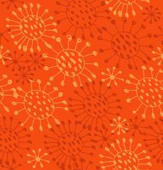 Seamless orange abstract pattern