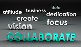 Collaborate at the Forefront poster
