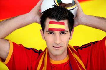 Enthusiastic Spain supporter