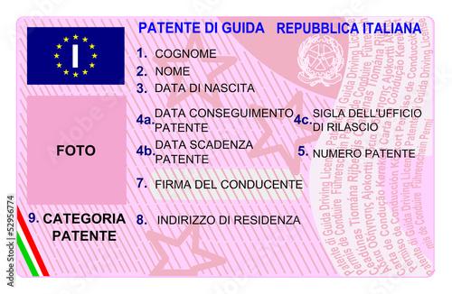 Patente di guida europea - Patente elettronica