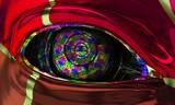Occhio digitale, robot, grande fratello, sorveglianza, cyborg