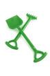 Plastic rake and spade