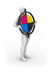 Presentation of the CMYK symbol