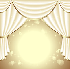 Background with light drapes