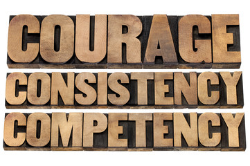 courage, consistency, competency