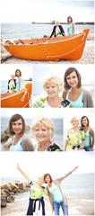 Collage di famiglia felice