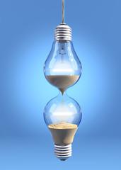 Hourglass lightbulb