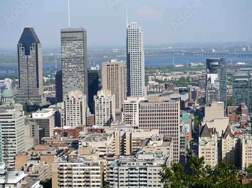 Montreal downtown skyline viewed from Mount Royal