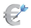 target euro currency illustration design