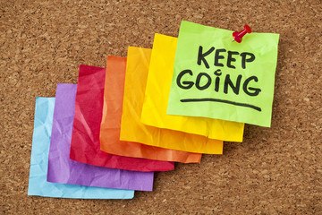keep going motivation concept