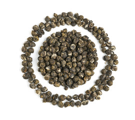 Dragon Pearl Flower Tea circle