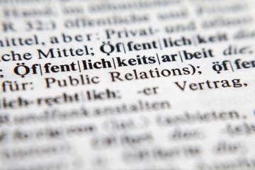 Öffentlichkeitsarbeit - Public relations