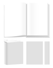Vector book templates for presentational purposes.
