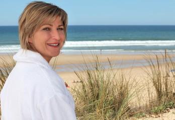 female at seaside